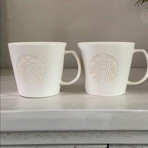 Rare 2015 Starbucks white logo cups